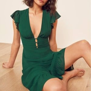 Brand New Reformation Riegan Midi Dress size 0